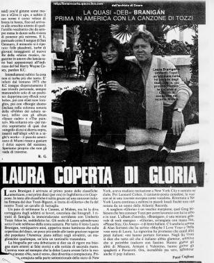 Laura coperta di Gloria