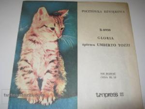 gloria 45 giri cartona  by simone